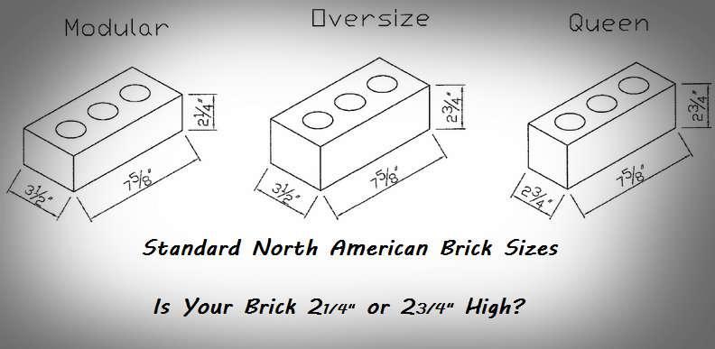 brick wall brick size